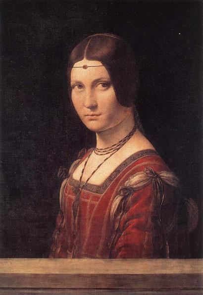 Прекрасная  Ферроньера - Леонардо да Винчи