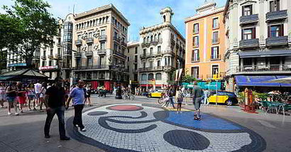 Бульвар Рамбла в Барселоне - Рамбла Капуцинов