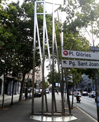 Памятник жертвам бобмардировок Гражданской войны в Барселоне