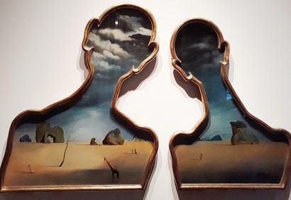Пара, с головами, полными облаков - Сальвадор Дали