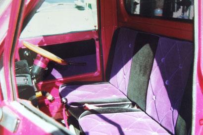 Kカーカスタム、室内の内装を張り替えたホンダステップバンの内装