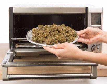 Cannabis im Ofen trocknen
