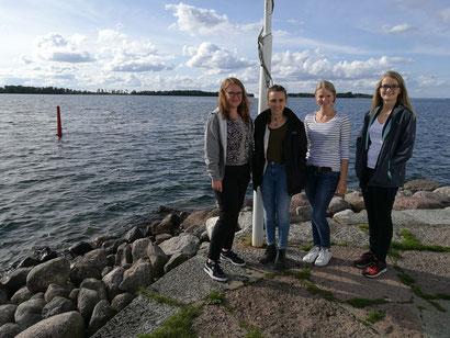 Am Vättern-See in Vadstena: Anna Nick, Lioba Dietz, Elisabeth Schwake, Maria Korten