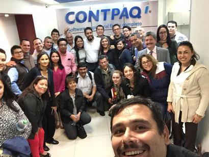 Grupo de especialización en el área de producción formado por Contpaqi y  Vyrova  empresas especializadas en los procedimientos y sistemas de producción que han formado durante varias sesiones de estudio y aprendizaje al grupo de especialización.