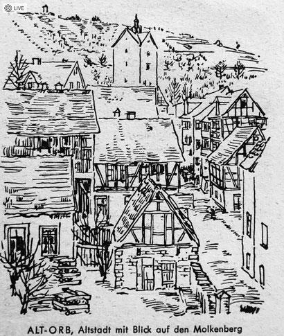 Alt-Orb - Altstadt mit Blick auf den Molkenberg
