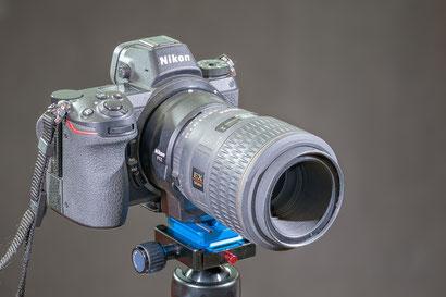 Z6 mit Sigma 105mm f2.8 D 1:1 (von ca. 2001)
