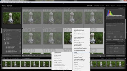 LR: Selecting the good photos of a stack and group into a stack