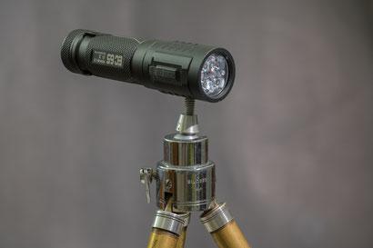 ACEBEAM EC-65 on a small tripod