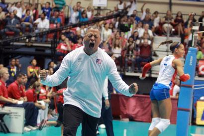 Juan Carlos Nuñez al clasificar a la Selección Femenina a las Olimpiadas de Rio 2016