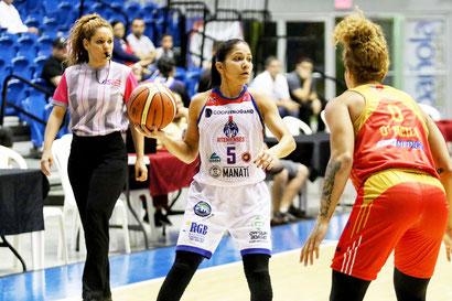 Pamela Rosado aporto 11 puntos en la victoria de su equipo / foto por BSNF