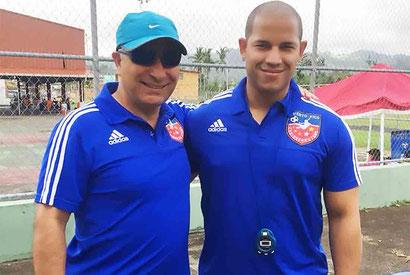 Oscar Nieto es el Head Coac o Director Tecnico Marilys Acosta es la entrenadora y  Alex Cruz Asistent coach