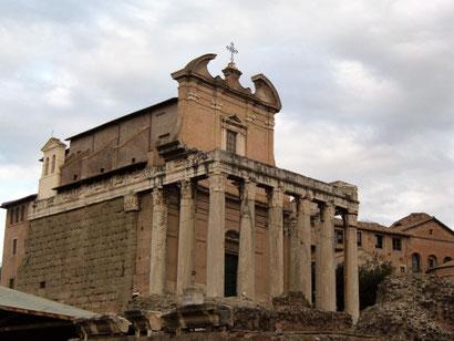 Римский форум, храм Антония и Фаустины