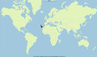 Karte, Welt, Teneriffa