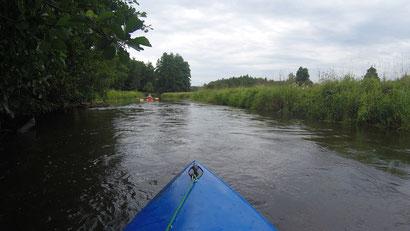 Kajak, Kanu, paddeln, Örzte, Fluss, Wassersport, Wassersport lernen, naturbelassener Fluss, Flussverlauf, Baumstaumm, abenteuer, Flussufer, Strömung