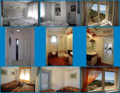 DeLuxe PENTHAUS PANORAMA***** - APARTMENT: Nachtbereich mit Flur, Doppelzimmer, Bad, Zweibettzimmer