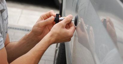 Opening car door lock