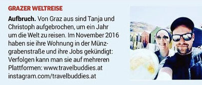Weltreise, Travel, Around the World, Reisen, Graz, Paar, Österreich, Weltenbummler, Neuanfang