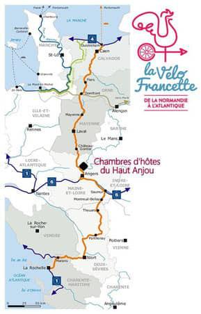 itineraire de la velo francette