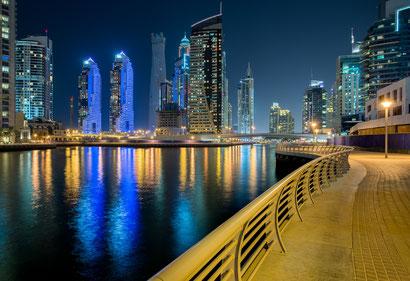 Dubai Marina by Night © Michael Schnabl