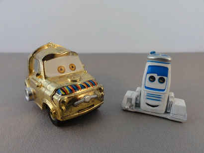 Guido as R2-D2 and Luigi as C3PO