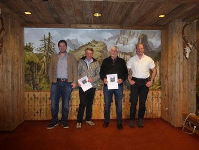 v.l.n.r.: 1. Vorstand Christoph Kaufmann, Richard Hartmann, Peter Knapp, 2. Vorstand Andreas Müller