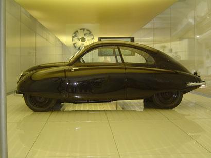 Ur-SAAB von 1947 im Museum in Trollhättan
