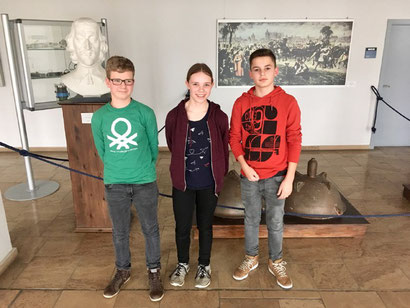 Von links nach rechts: Paul Sauermann, Elisabeth Halbach und Michel Nigman.