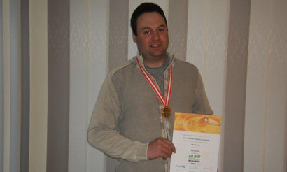 Gernot Ortner vom BZV Dellach/Drau wurde mit Gold ausgezeichnet