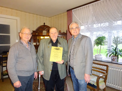 v.l.n.r. Alfons Pöpsel, Willi Stuckmann, Paul Knierbein