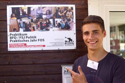 Politik zum Anfassen Lars Englert Mitarbeiter Bundesfreiwilligendienst / BFD / FÖJ / FSJ