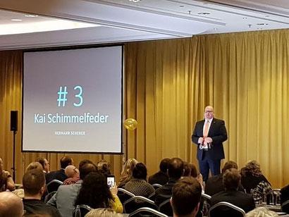 """Kai Schimmelfeder am 15.03.2018 mit Startnummer 3: Vortrag """"Fördermittel-Dschungel"""""""