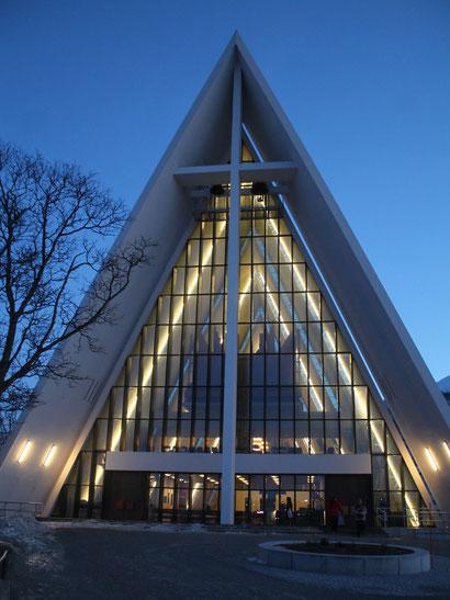 Ishavskatedralen in Tromsø, Norwegen