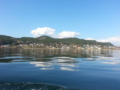 Mit dem Schiff auf dem Oslofjord