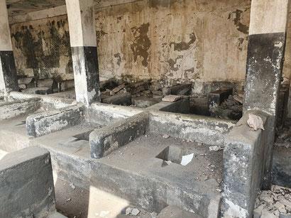 Sanitäre Anlagen des einstigen Gefängnisses.