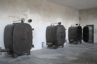 Eines von vier Krematorien in Birkenau.