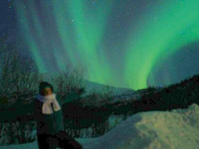 Bucketlist-Check: Ich mit dem Nordlicht auf Senja