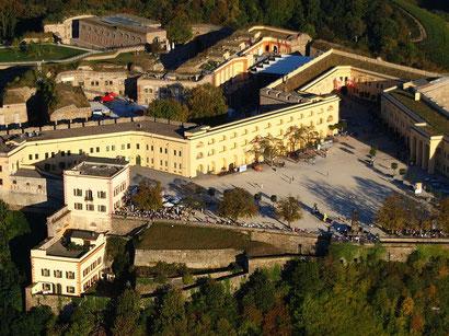 Festung Ehrenbreitstein von oben. (c) Wolkenkratzer/wiki commons