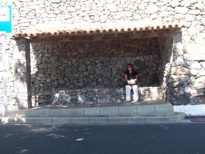 Haltestelle auf Gran Canaria.