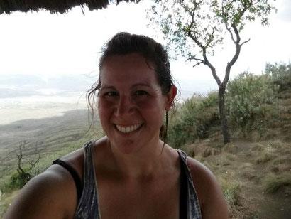 Geschafft: Alleine auf dem Mount Longonot in Kenia, 2800 Meter.