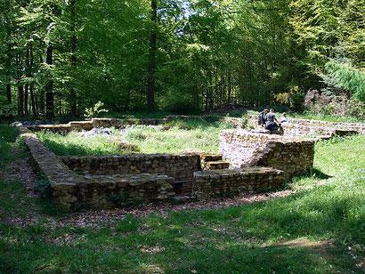 Grundmauer der Villa Rustica. (c) Holger Weinandt/wiki commons