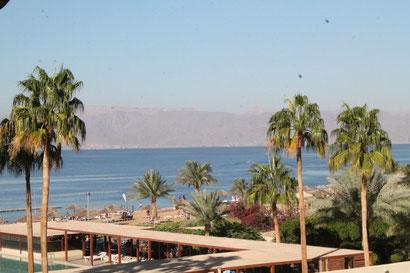 Tala Bay mit Blick nach Ägypten.