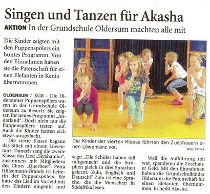 Ostfriesen-Zeitung v. 6.08.2014