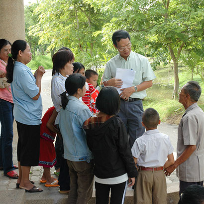 Immagine responsabile progetto regione Chiang Mai, signor Stéphane Tong