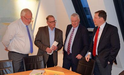 Vier Gesellschafter der B-CONNECT Köln, Jürgen Kleikamp, Christian Möbius, Stephan Reinartz, Axel Woeller