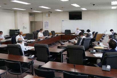 古賀市議会新型コロナ対策会議(第18回・第1委員会室)