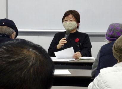 体験報告をする山崎宣子さん