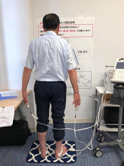 InBodyによる筋肉量等の測定