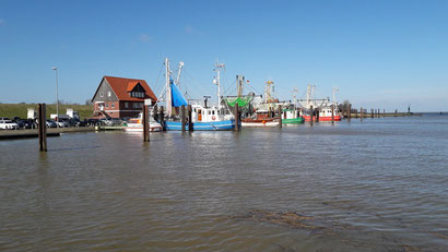 der idylische Hafen bei Flut