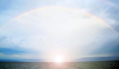 arc en ciel sur le lac de Tibériade - L'Instant du Phenix