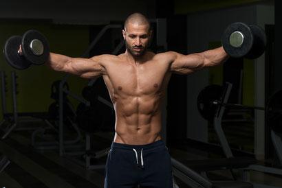 shoulder workout training plan schedule dumbbell side raise